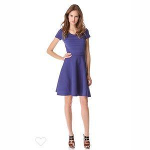 Rebecca Taylor Purple Runway Knit Fit Flair Dress
